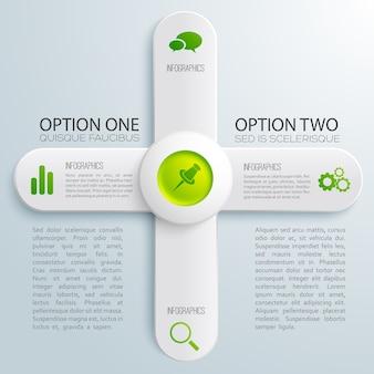Infografik business design konzept