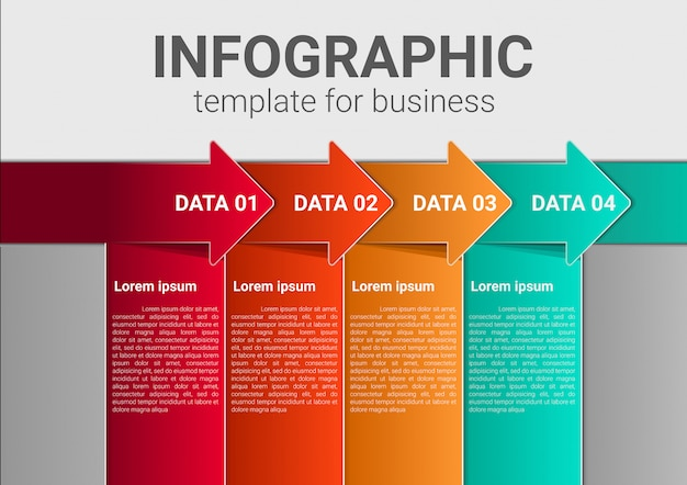 Infografik business-marketing-vorlage