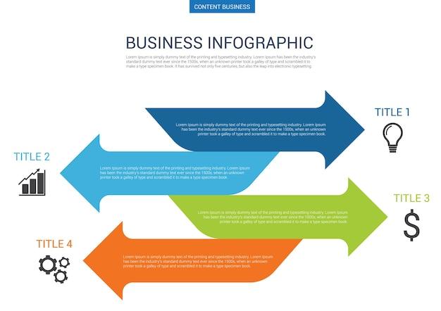 Infografik-business-präsentation folie vorlage