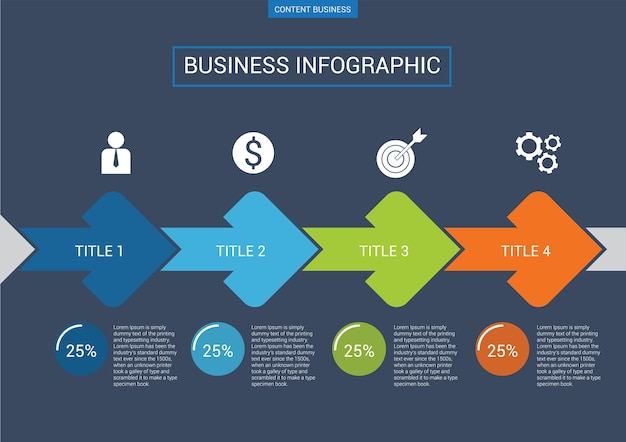 Infografik-business-präsentation folie vorlage