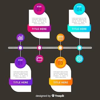 Infografik business schritte