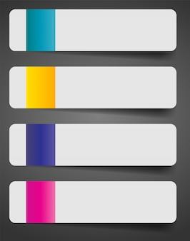 Infografik business-template mit vier elementen