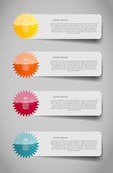 Infografik business template mit vier schritten