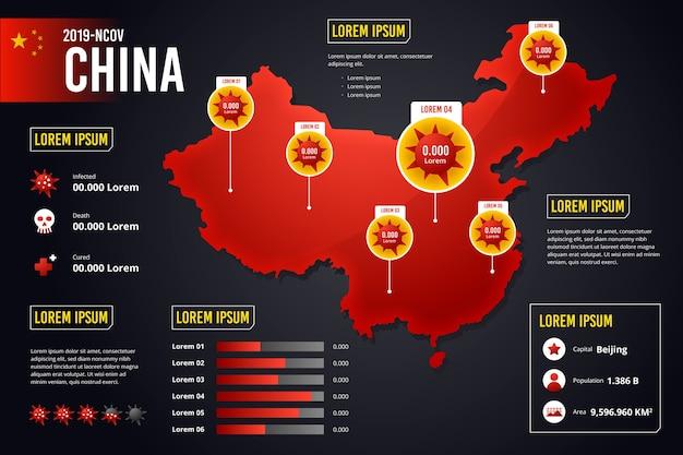 Infografik der coronavirus-landkarte