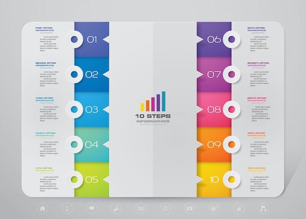 Infografik der präsentationstabelle