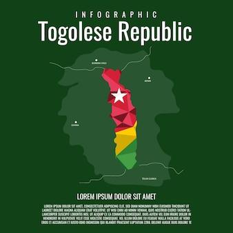 Infografik der republik togo