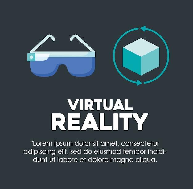 Infografik des designs der virtuellen realität