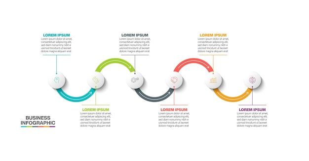 Infografik des präsentationsgeschäfts