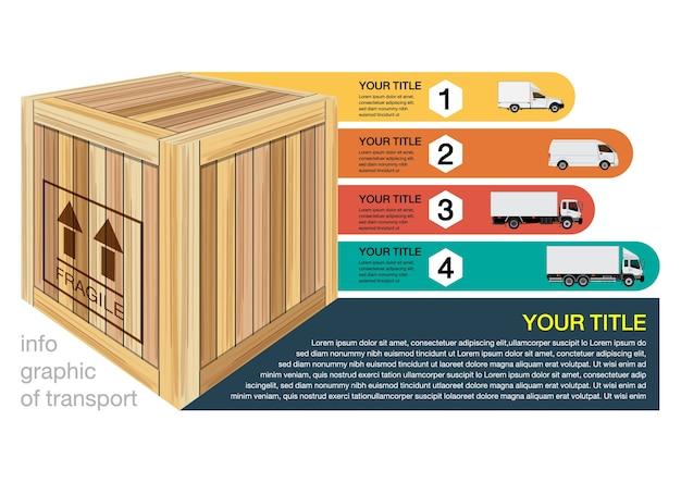 Infografik des transports