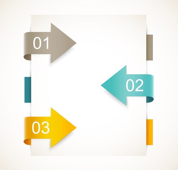 Infografik design. abstrakte vorlage mit pfeilen