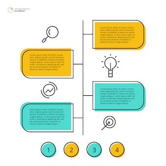 Infografik-design mit 4 option