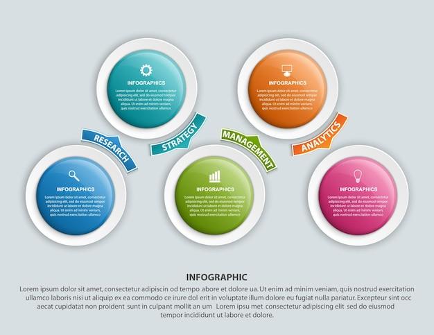 Infografik-design organigramm-vorlage