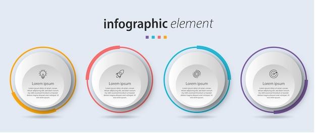 Infografik design schrittliste