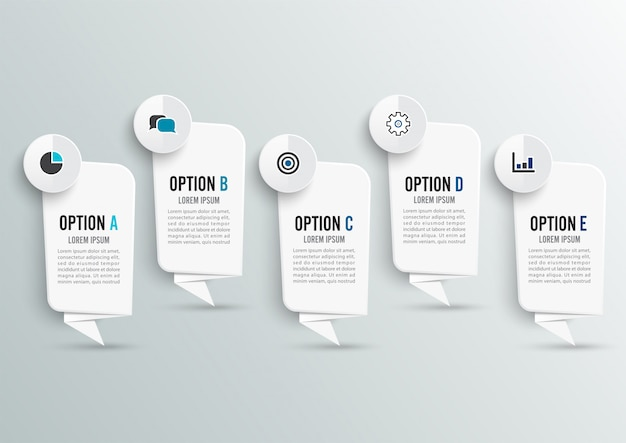 Infografik-design und workflow-layout.