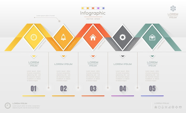 Infografik-design-vorlage mit symbolen