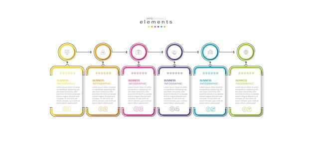 Infografik designvorlage mit symbolen und 4 optionen oder schritten.