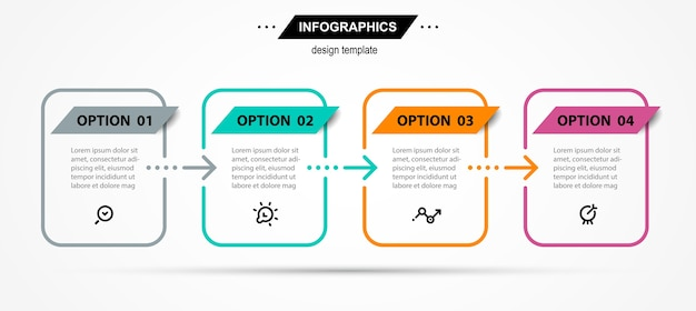 Infografik designvorlage mit symbolen