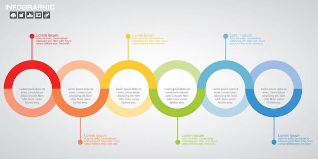 Infografik diagramm schritte vorlage