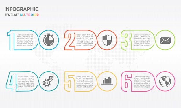 Infografik dünne linie designvorlage