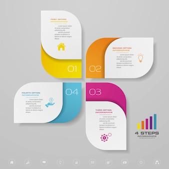 Infografik-element der präsentationstabelle