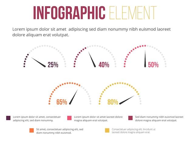 Infografik-element für geschwindigkeitsmesser-informationen