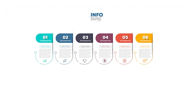 Infografik-element mit schrittabbildung
