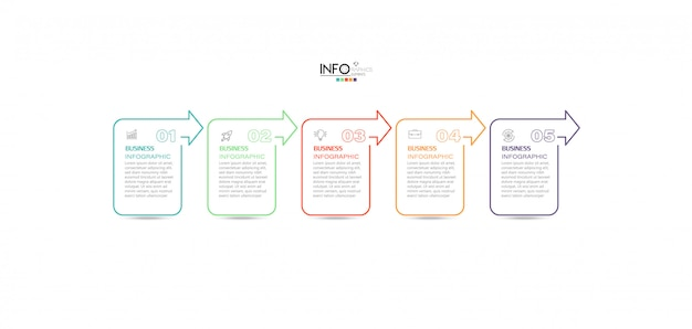 Infografik-element mit schritten. kann für prozess, präsentation, diagramm, workflow-layout, infografik, webdesign verwendet werden.