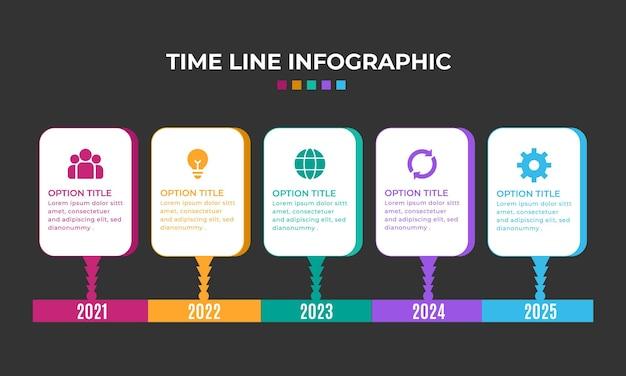 Infografik-element-sammlung der verlaufszeitlinie