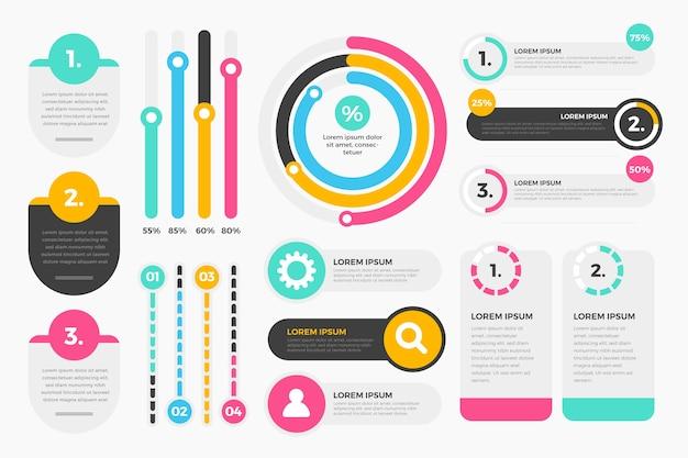 Infografik element sammlung konzept