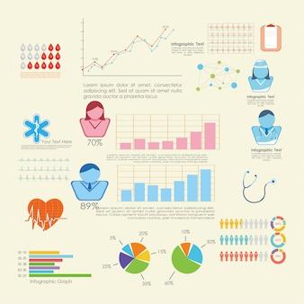 Infografik-elemente - balken- und liniendiagramme