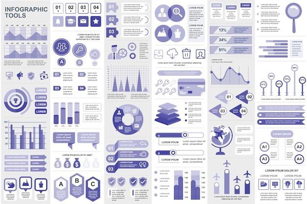 Infografik-elemente datenvisualisierung vektordesign infografiken