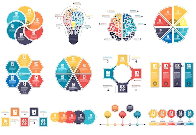 Infografik elemente datenvisualisierung