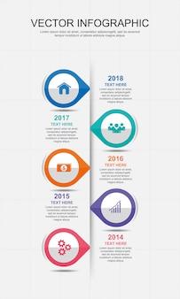 Infografik-elemente design mit 5 optionen
