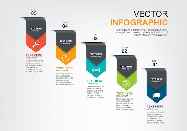 Infografik-elemente-design mit 5 optionen
