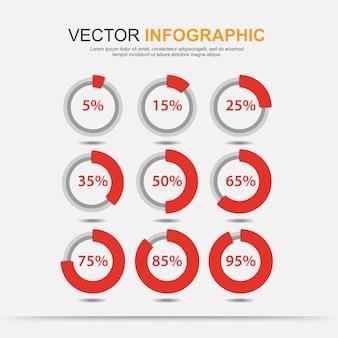 Infografik-elemente diagrammkreis mit prozentangabe