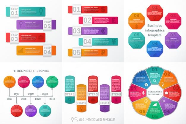 Infografik-elemente für text und broschüre. illustration.