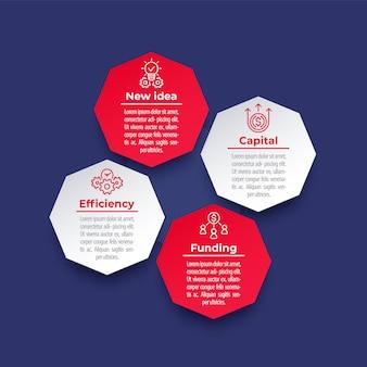 Infografik-elemente für unternehmen, finanzen mit liniensymbolen