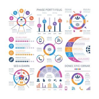 Infografik elemente gesetzt
