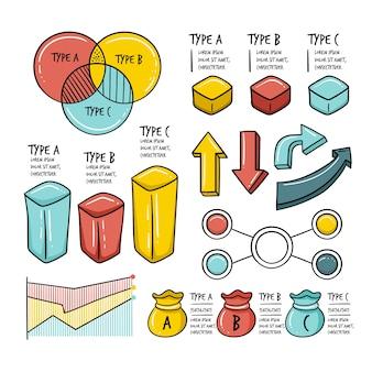 Infografik-elemente in der hand gezeichnet