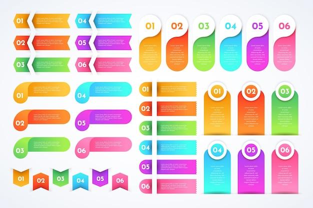 Infografik-elemente mit farbverlauf
