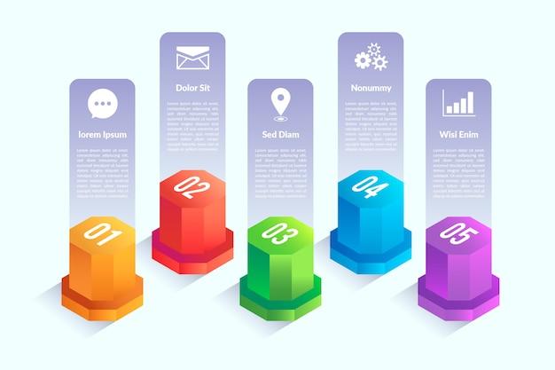 Infografik-elemente mit isometrischem design