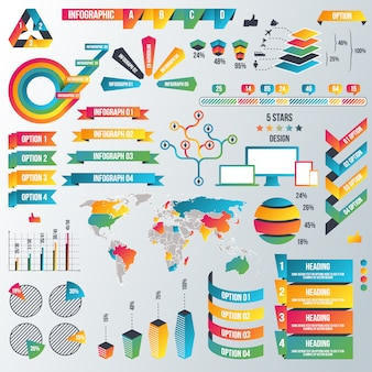 Infografik-elemente-sammlung