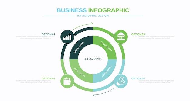 Infografik-elemente stock illustration infografik nummer 4 kreisdiagramm vektor
