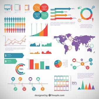 Infografik-elemente zu packen