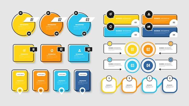 Infografik-elementsammlung für die präsentation