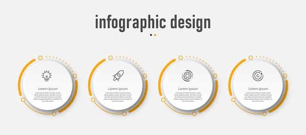 Infografik-entwurfsvorlage des präsentationsgeschäfts