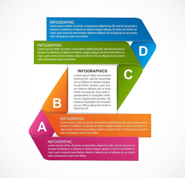 Infografik-entwurfsvorlage für geschäftsoptionen