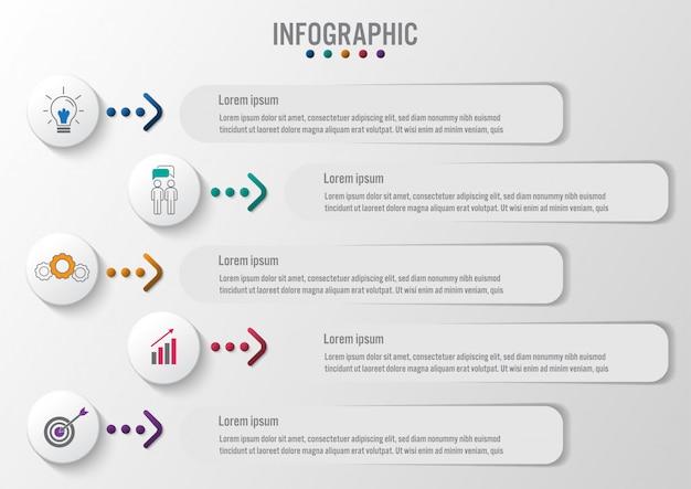 Infografik etiketten vorlage
