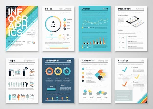 Infografik flyer und broschüre für unternehmen
