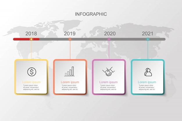 Infografik-folienvorlagen für geschäftspräsentation.